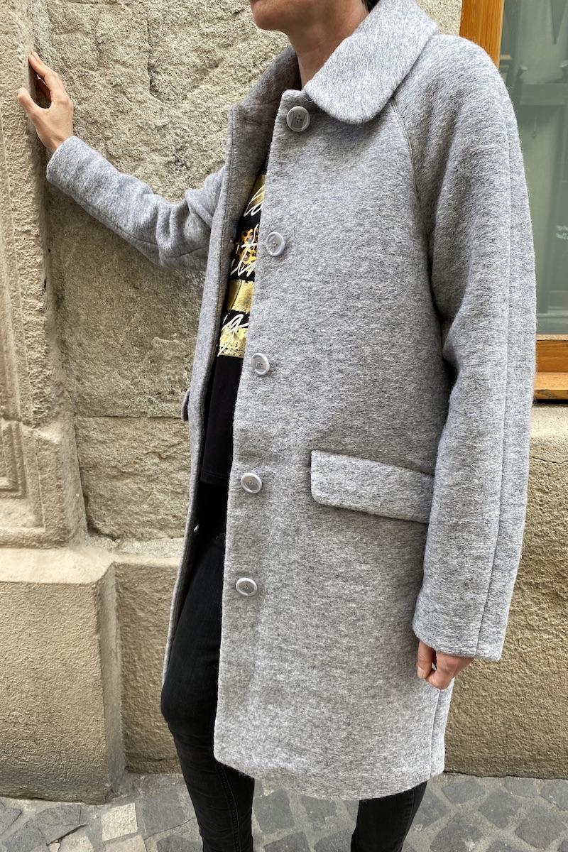 Robin, prêt à porter - MANTEAU GLADIS  GREY