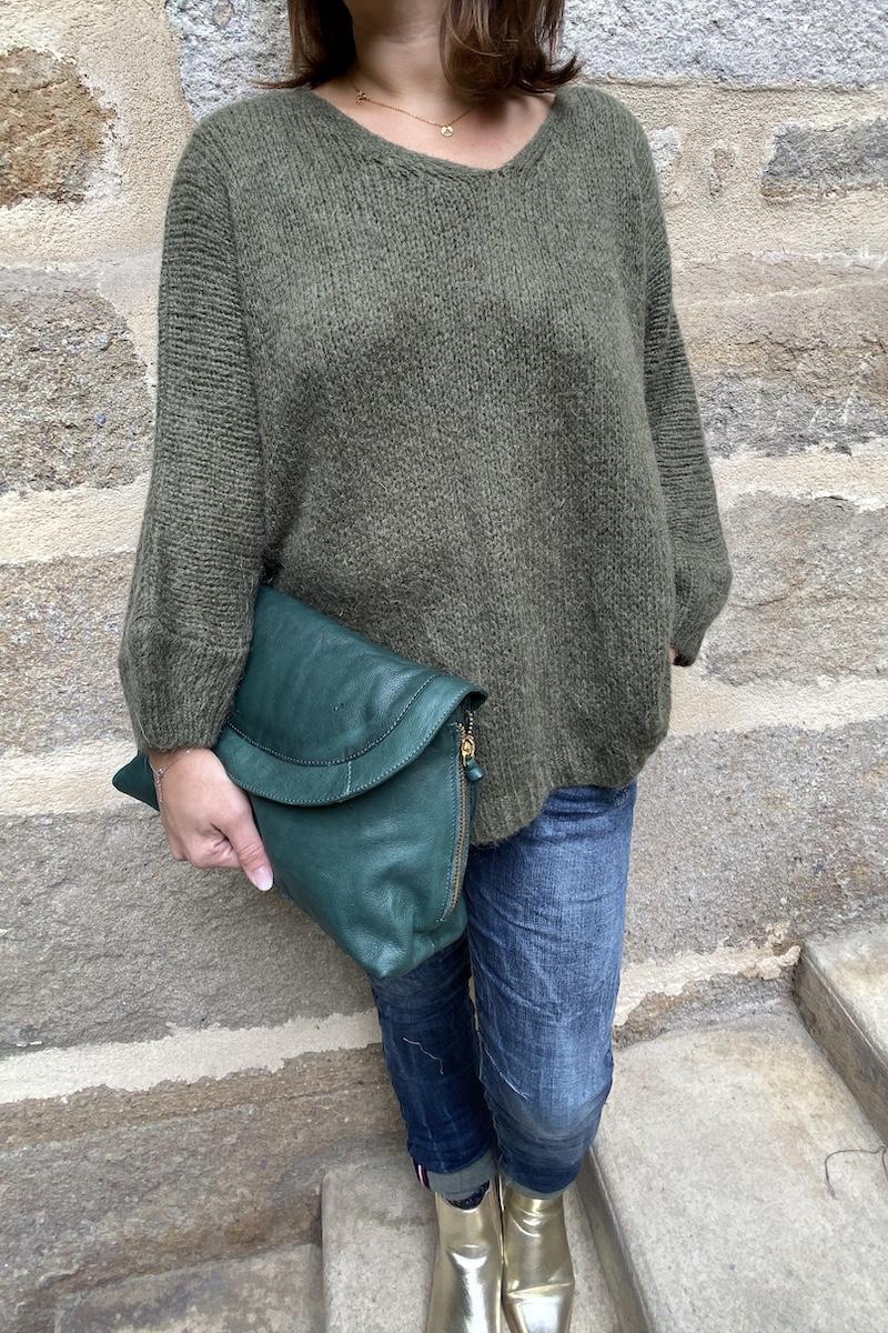 Robin, prêt à porter - PULL ADELINE KAKI