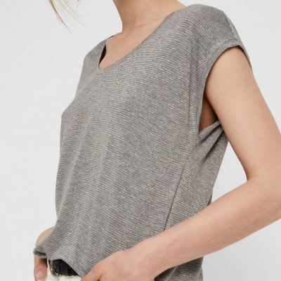 Robin, prêt à porter - T-SHIRT PAILLETTES LIGHT GREY